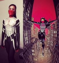 White And Black Spiderman Costume 3D Print Spandex Zentai Spider-man Superhero Costume Spiderman Cosplay Custom Made Availadle