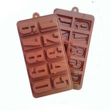 MJ055 Zero To Ten Arabia Numbers Shaped For Chocolate Mold Grade Silicone Mold Practical Environmental Protection Cake Tools(China)