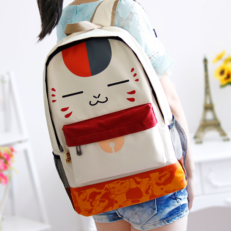 Cartoon print korean style fashion cat traveling bag  high school student preppy style backpack lovely school bag<br><br>Aliexpress