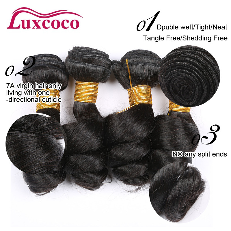 7A Virgin Peruvian Loose Wave Hair 4 Bundles Peruvian Virgin Hair Loose Wave Cheap Human Hair 100g/Bundle 8-30 inch<br><br>Aliexpress