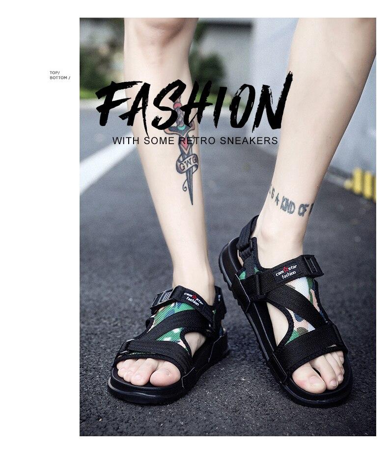 Slippers Men's Sandals Men's Summer Men's Sandals And Slippers Non-slip Beach Fashion Outdoor Wear Drag Trend 74 Online shopping Bangladesh