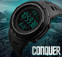Men's Stainless Steel Watch Waterproof Sport Cycling Watches Countdown Clock Bracelet Band Outdoor Wristwatch Men Super Gifts(China)