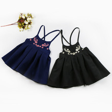 Fashion New 2017 Print Girls Dress Summer Dresses Beach Strap infant Baby Dress Child designer Kids Dresses For Girls Clothes(China)