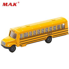 Cheap Toys Mini Diecast Car 1/87 Diecast Ameican School Bus Car Model Collection U1864 Yellow Kids Toys Collection Gift(China)