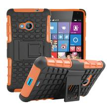 Hybrid TPU+PC 2 in 1 spider case For Microsoft Nokia Lumia 535 rugged heavy duty armor shock proof protective phone cover(China)