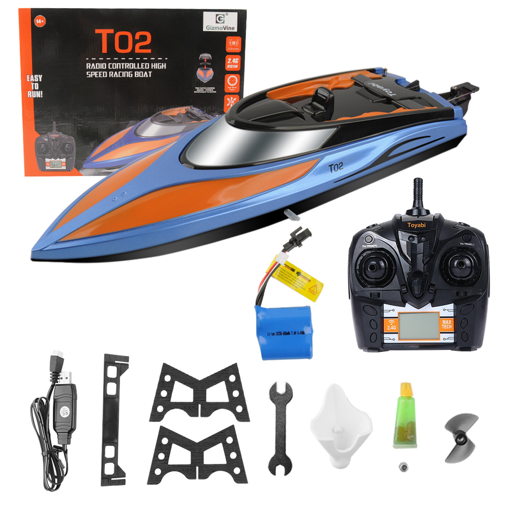 RC Boat 30km/h High Speed Boat Racing Remote Control Boat With 2 Battery Remote Control RTR Toys For Children Kids Xmas Gifts remote control boat toys