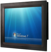 "17 inch industrial touch screen panel PC, Core i3 3217U/4GB/500GB HDD, 6COM/4USB/GLAN, fanless all in one panel pc, 17"" HMI"