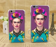 trendy frida kahlo Style Fashion Hard Transparent Clear Back Style Case for iPhone 7 7 Plus 6 6s 6 plus Cover