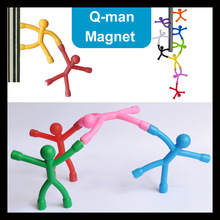 9 or 6 Piece/Lot funny Bendable man Magnetic tools Figure Office desktop game MINI Fun Novelty toy for children gift paper parts(China)