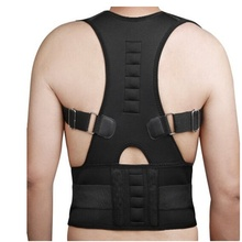 Men Women Magnetic Belt Orthopedic Magnetic Therapy Corset Back Posture Corrector Shoulder Back Support Posture Correction(China)