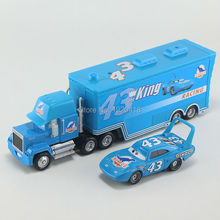 Pixar Cars No.43 Race Team The King & Mack Truck Diecast Toy Car For Children 1:55 Loose Brand New In Stock