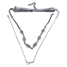 best friends perfume women fashion women multi layers necklace set indian jewelry collier femme vintage crystal necklace cc