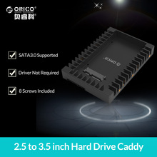 ORICO 2.5 to 3.5 inch Hard Drive Caddy Support SATA 3.0 Support 7 / 9.5 / 12.5mm 2.5 inch SATA HDDs and SSDs (1125SS)