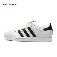 Intersport Original New Arrival Adidas Official Superstar Classics Unisex Men's and Women's Skateboarding Shoes Sneakers(China)