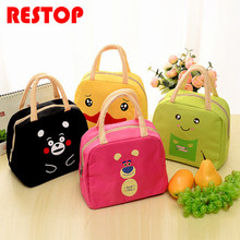 Insulated Oxford Duck Frog Beer Lunch Bag Thermal Food Picnic Lunch Bags for Women kids Men Cooler Lunch Box Bag Tote RES255(China)