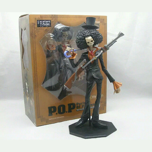 One Piece Cosplay Straw Hat Pirates Brook 30cm/11.8 Boxed Action Figures Toys Model Garage Kit<br>