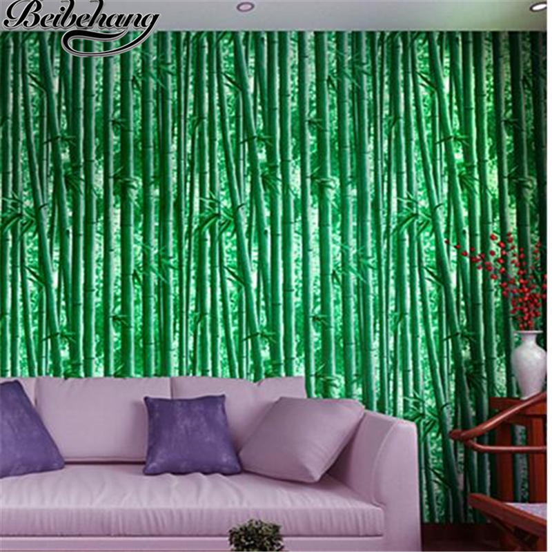 beibehang 3d bamboo wallpaper hotel entrance hall living room TV backdrop classical Chinese style wallpaper  papel de parede<br>