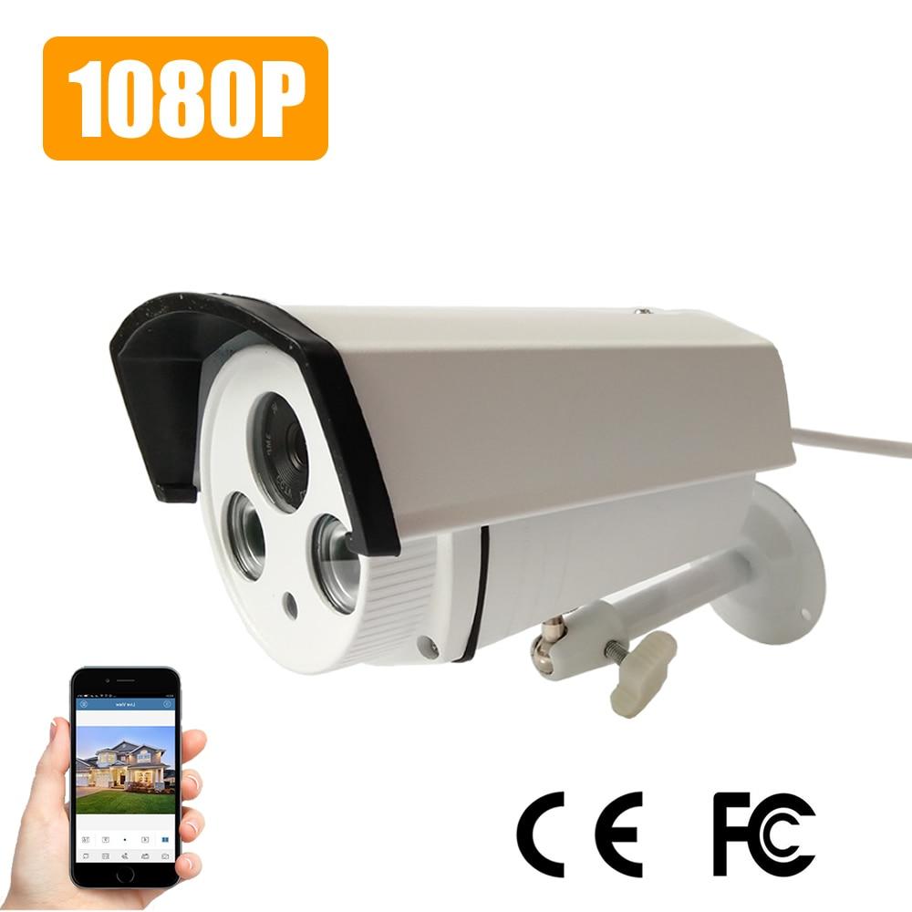 Bullet IP Camera 1080P Sony IMX322 / OV2710 Array leds Cloud HD 2.0MP ONVIF Waterproof Outdoor IR CUT Night Vision Plug and Play<br>