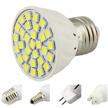 E14/E27 Screw Base MR16 GU5.3/GU10 Led Bulb 12V 24V 9-30V AC/DC Lamp Downlight 30*5050SMD Spotlight White/Warm White