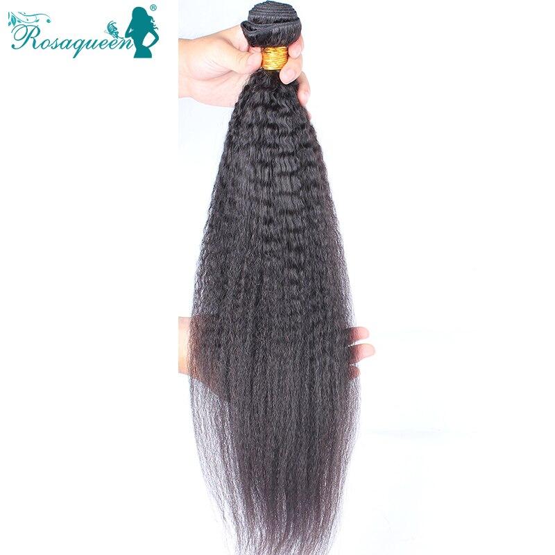 Mongolian Virgin Hair Straight Coarse Yaki 1 Piece Human Hair Weaves Italian Yaki 10-30 Kinky Straight Hair Rosa Hair Products<br><br>Aliexpress