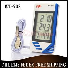 30 pieces/lot 3 in 1 Digital Temperature Humidity Tester Clock Hygrometer Thermometer KT908(China)