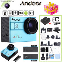 "Oversea Stock Andoer Sports Action Camera 4K WiFi 2.0"" LCD 16MP 4X Zoom 173 Degree Wide-Lens Waterproof 30M Mini Camera Car DVR(China)"