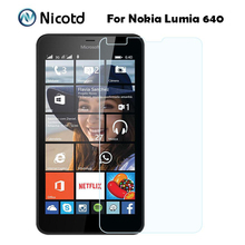 2.5D 0.26MM Premium Explosion-proof Tempered Glass Screen Protector Film For Nokia Microsoft Lumia 640 Dual Sim Lte 5.0""
