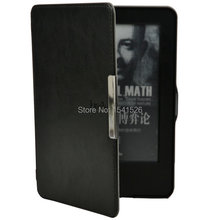 hand-hold leather cover case for Amazon 2014 new kindle touch 7 7th generation eBooks ereader+screen protector+stylus