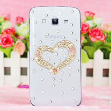 handmade leather rhinestone crystal rose mobile phone bag case for Samsung Galaxy Avant G386T/S4 Active i9295 case cell phone