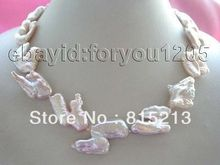 ddh001808 Genuine Natural 34mm Pink Reborn Keshi Pearl necklace 28% Discount