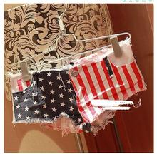 Bermuda Mini Short Sexy Thong Denim Shorts Female 2018 Spring Summer Short Femme European and American Style Cuissard Jean Femme(China)
