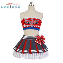 LoveLive! Love Live Maki Nishikino Cheerleaders Uniform Strapless Skirt Anime Halloween Cosplay Costumes For Women Custom Made