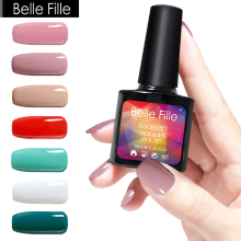 UV Gel Nail Polish 10ml Nude Pink Red Green White Color LED Gel For Nails Soak Off Gel Varnish Vernis Semi Permanent Negellak
