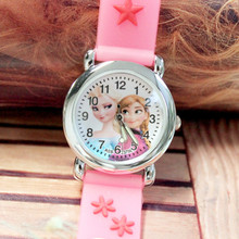 2015 New 100pcs/lot Girls jelly band wrist watches lovely cartoon charaters children watch waterproof glow in the dark Wholesale