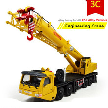 1:55 alloy Inertial truck, truck crane high simulation model, metal casting, can slide puzzle toys, free shipping