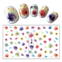 Hot Fashion 1 Sheet 3D Nail Decal Colorful Flower Decoration Stickers Nail Art DIY Accessory Tips  BEF022