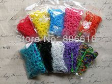 (High quality ! ) 5sets / lot Rubber Loom Bands Kit Refills (300bands+10S-Clips+1pc Hook/ Set)(China)