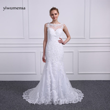 Buy yiwumensa vestidos de noiva Mermaid wedding dresses 2018 Appliques mariage robe de mariee wedding bridal gowns backless dress for $189.00 in AliExpress store