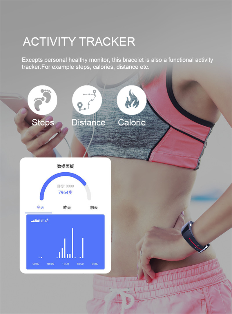 Activity Tracker with Blood Pressure Watch 9