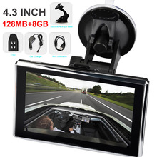 4.3 inch Touch Screen Satellite Navigation with Russia Europe Maps Portable Universal 128 RAM 4GB inches GPS Navigation