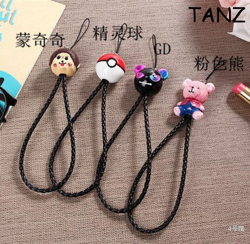 3D Cute cartoon Mobile Phone Straps Wrist Hand Chain Straps Keychain Cord DIY Hang Rope Lariat Lanyard Mobile Phone For iPhone 7(China)