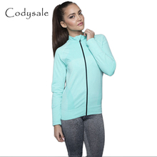 Codysale Women Jacket Fitness Coats Long-sleeved Sweatshirt Quick Dry Outwear Coat Leisure Workout Sportswear for Women 5 Colors(China)