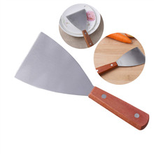 YOLALA Stainless Steel Kitchen Tools Cooking Utensils Pancakes Steak Shovel Wooden Handle Cooking Shovel Tableware Household(China)