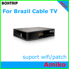 For Brazil Latest 2017  Cable TV Amiko support patch Newcamd CCCam satellite receiver south america receptor de satelite