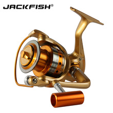 JACKFISH German technology 12BB 500 -7000 Fishing Reel metal spinning reel carpa molinete de pesca spinning wheel fishing reel(China)