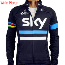 2017 team sky Winter Thermal Fleece Cycling jersey long sleeve jerseys  warm clothing MTB bicycle maillot Culotte