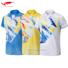 men table tennis shirt clothes quick drying short sleeve badminton training shirts white blue yellow colors available jerseys
