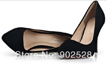 Manufacturers selling trade the spring and autumn period and the lady Children of fine with high heels black shoes 3631 - D1
