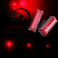 Buy USB Rechargeable MTB Bicycle Bike Front Rear LED COB Light Waterproof Cycling Warning Tail Lights Mount Gel Strap for $4.01 in AliExpress store