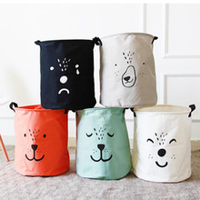 Multifunction Simple Cartoon Storage barrel Clothing Organizer sundries Toys organizer Dirty clothes basket Cloth Storage Box(China)